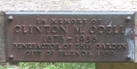 Odell Bench dedicatory plaque