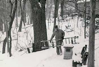 Cary in Winter Work