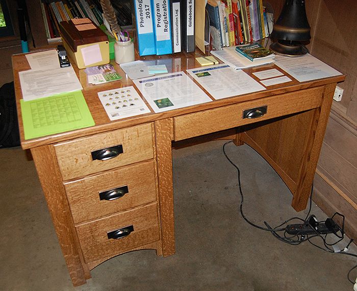 New shelter desk